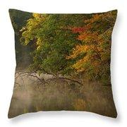 Fog Rolls Into Fall Throw Pillow
