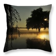 Fog Water And Sun Throw Pillow