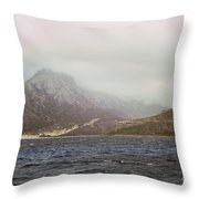 Fog, Wind And Waves Throw Pillow
