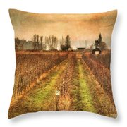 Foggy Afternoon On Highway 97 Throw Pillow