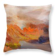 Foggy Autumnal Dream Throw Pillow