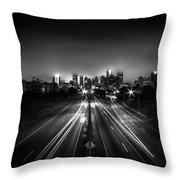 Foggy Cityscape  Throw Pillow