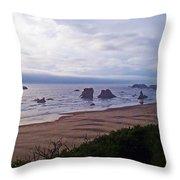 Foggy Coast Throw Pillow
