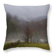 Foggy Day Throw Pillow