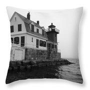 Foggy Day Sail Throw Pillow