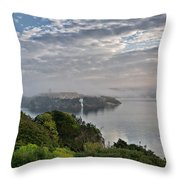 Foggy Days In Bloody Island 3 Throw Pillow