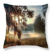 Foggy Dreamworld 2 Throw Pillow