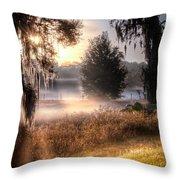 Foggy Dreamworld Throw Pillow