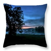 Foggy Evening In Vermont - Landscape Throw Pillow