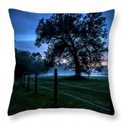 Foggy Evening In Vermont - Portrait Throw Pillow
