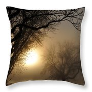 Foggy Morn Throw Pillow