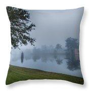 Foggy Morning In Alva Florida Throw Pillow