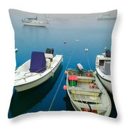Foggy Morning In Cape Cod Massachusetts  Throw Pillow