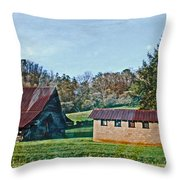 Foggy Morning In North Ga Throw Pillow