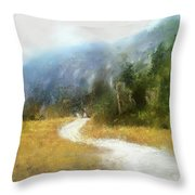Foggy Morning On Mount Mansfield - 2014 Throw Pillow