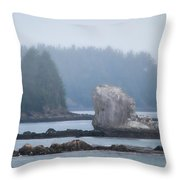 Foggy Morning On The Pacific Coast Throw Pillow