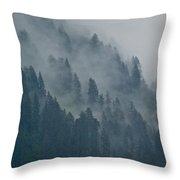 Foggy Mountain Ridge Throw Pillow