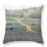 Foggy Muleshoe Bend Throw Pillow