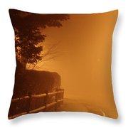 Foggy Night In White Plains Ny 2006 04 Throw Pillow
