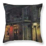 Foggy Night On Dumaine Throw Pillow