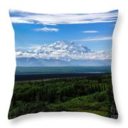 Foggy Valley  Throw Pillow