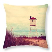 Foghorn At Big Sable Point Throw Pillow