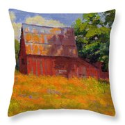 Foglesong Barn Throw Pillow