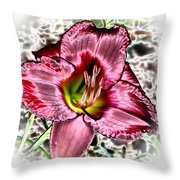 Foiled Beauty - Daylily Throw Pillow
