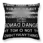 Fold Here Throw Pillow