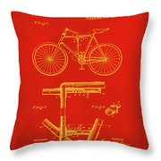 Folding Bycycle Patent Drawing 1c Throw Pillow