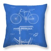 Folding Bycycle Patent Drawing 1d Throw Pillow