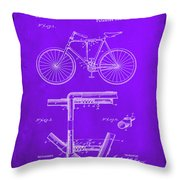 Folding Bycycle Patent Drawing 1e Throw Pillow