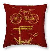 Folding Bycycle Patent Drawing 1f Throw Pillow