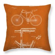 Folding Bycycle Patent Drawing 1g Throw Pillow