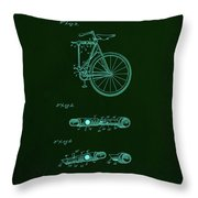 Folding Bycycle Patent Drawing 2a Throw Pillow