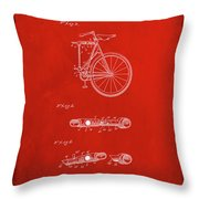Folding Bycycle Patent Drawing 2b Throw Pillow