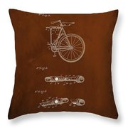 Folding Bycycle Patent Drawing 2c Throw Pillow