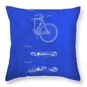 Folding Bycycle Patent Drawing 2d Throw Pillow