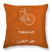 Folding Bycycle Patent Drawing 2e Throw Pillow
