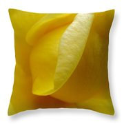 Folds Of A Rose Throw Pillow
