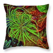 Foliage Abstract 3698 Throw Pillow