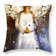 Folk Art Angel Throw Pillow
