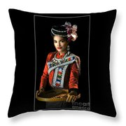 Folk Dancer Of The North East Throw Pillow