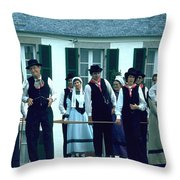Folk Music Throw Pillow