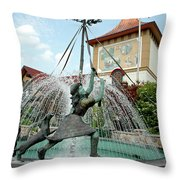 Follow Me Around The May Pole Throw Pillow