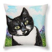 Follow Me Into The Garden Throw Pillow