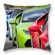 Follow That Lamborghini Throw Pillow