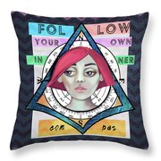 Follow Your Own Inner Compas Throw Pillow