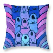 Following In The Footsteps Throw Pillow