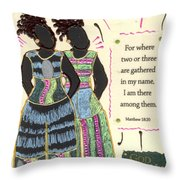 Following In Your Footsteps Throw Pillow